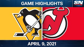 NHL Game Highlights | Penguins vs. Devils - Apr. 9, 2021