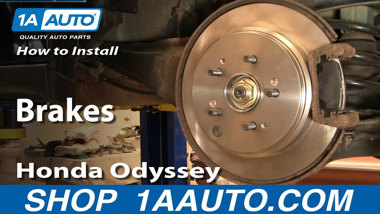 How To Install Replace Rear Brakes Honda Odyssey 99 04