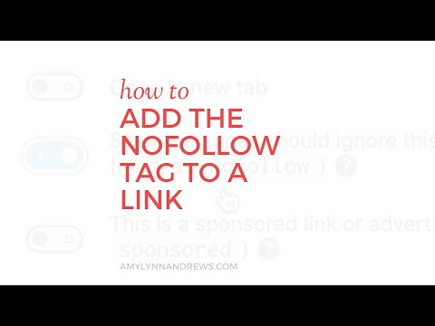 How to add the nofollow tag to a link in WordPress