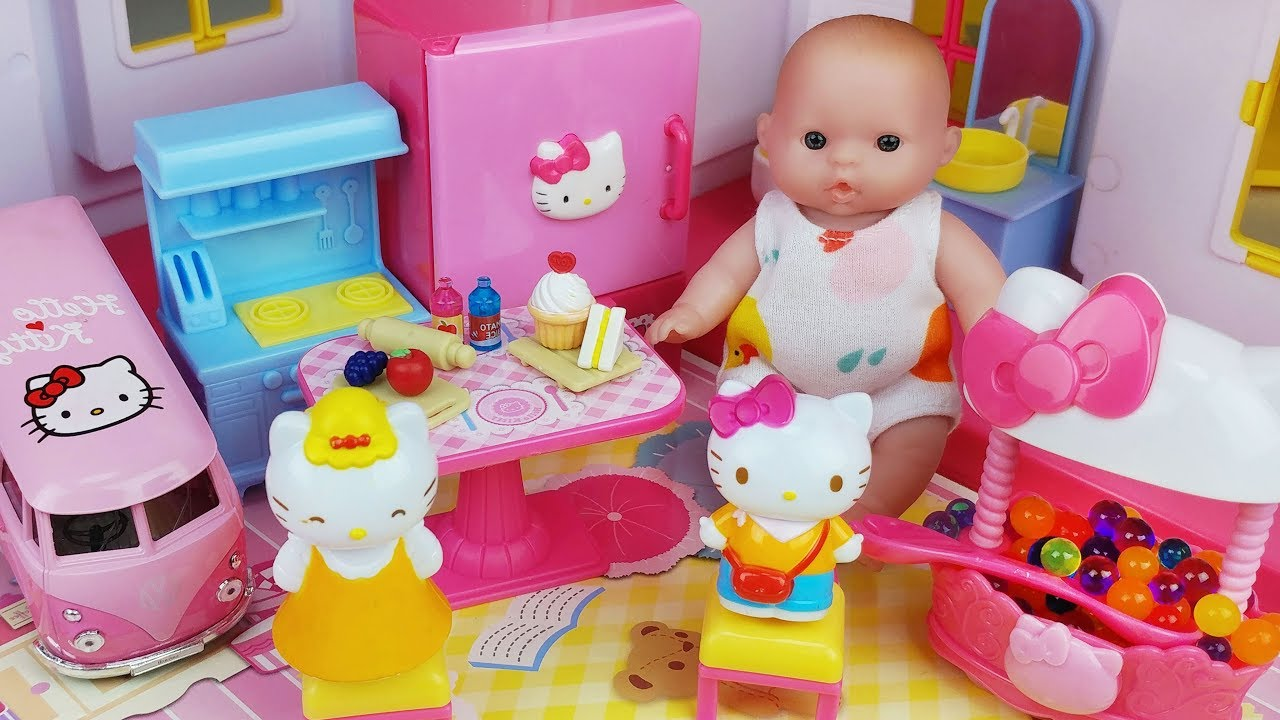Hello Kitty And Toy Story Jessie Images : Baby doll and hello kitty story house mart toys play