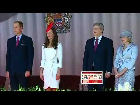 Maria Aragon on Canada Day singing the National Anthem and meeting dignitaries