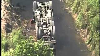 Dump truck flip in St. Lucie County