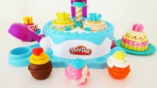 play doh sweet shoppe cake makin station unboxing