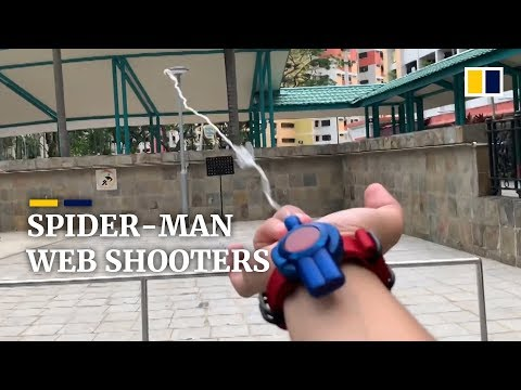 Man creates fully functional Spider-Man web shooter