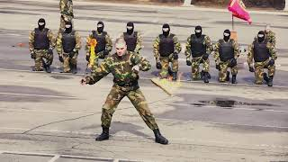 Показательные выступления 8 роты специального назначения в/ч 3214 по рукопашному бою
