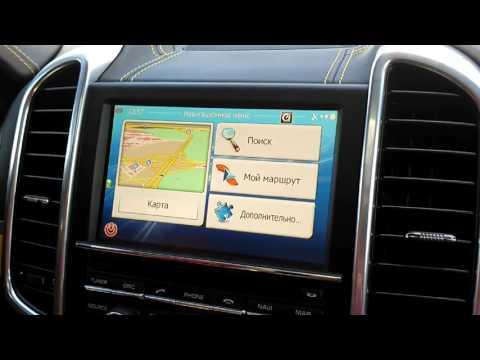 PORSCHE Cayenne 2015: видеоинтерфейс, навигационный блок. Навигация с пробками
