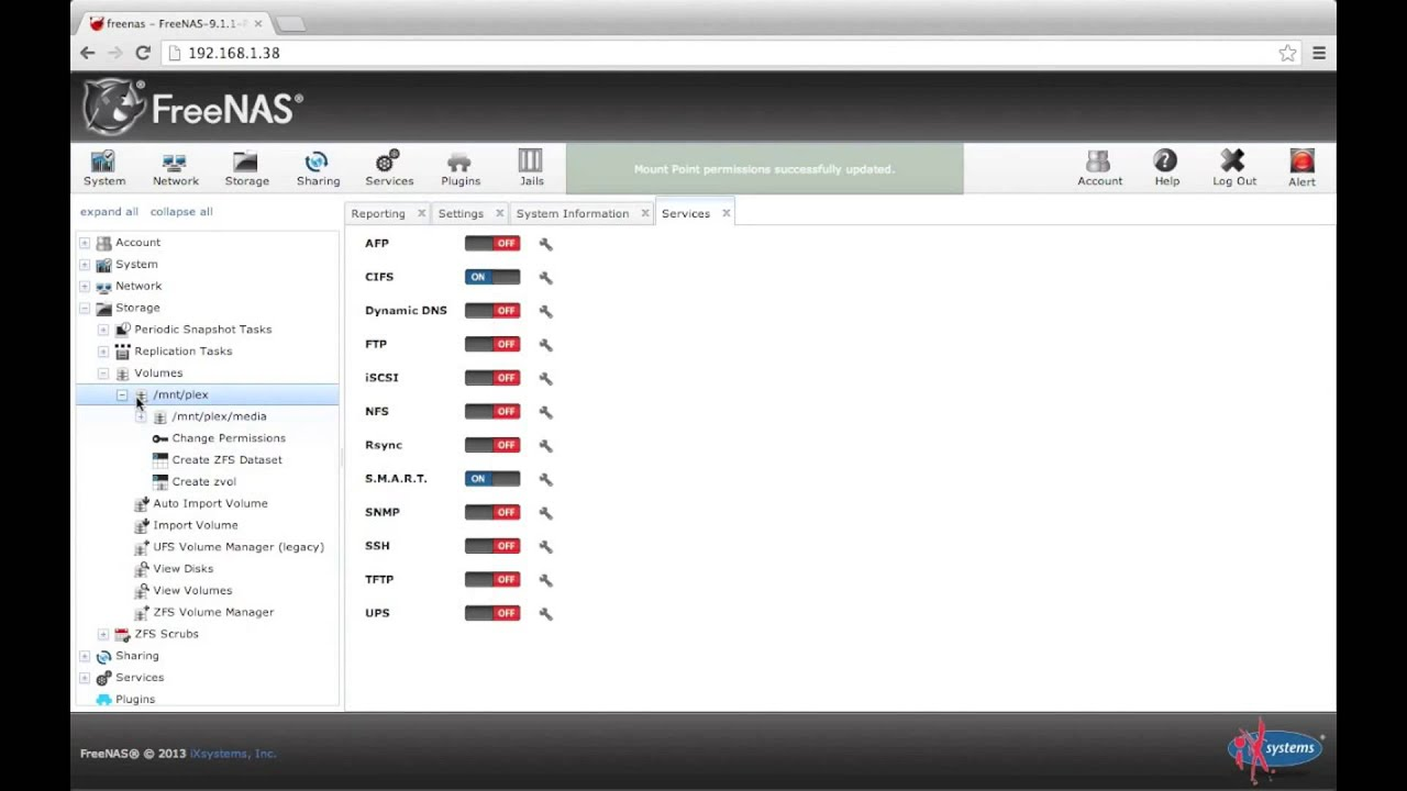 FreeNAS 9 1 1 Plex Media Server Plugin