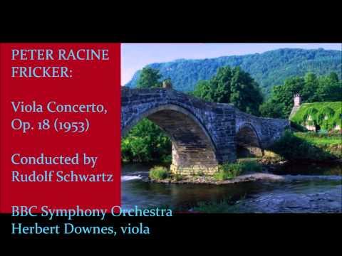 Peter Racine Fricker: Viola Concerto [Schwarz-BBC SO-H. Downes]