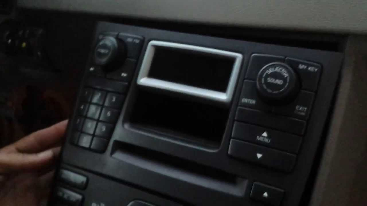 how to remove radio display cd changer from 2004 volvo xc90 for rh youtube com