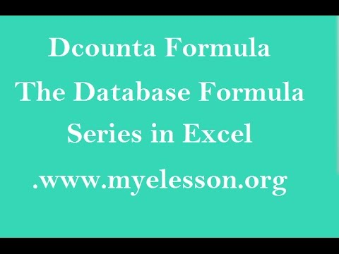 MS Excel Dcounta Formula