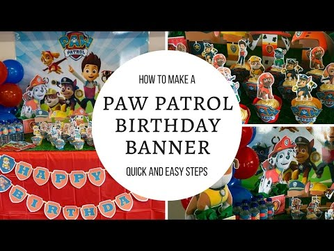 How to make Paw Patrol Happy birthday banner | Free Printables includes