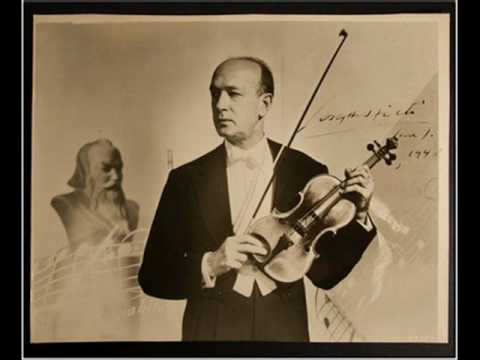 Joseph Szigeti plays E.Bloch : Nigun I-II.