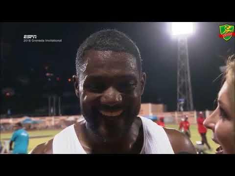 Justin Gatlin & Grenada - Grenada Invitational 2018