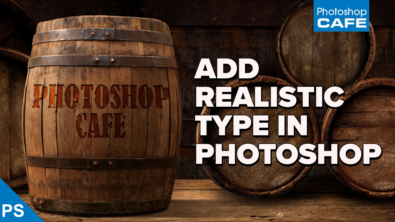 How to add REALISTIC TEXT to a PHOTO – Photoshop tutorial
