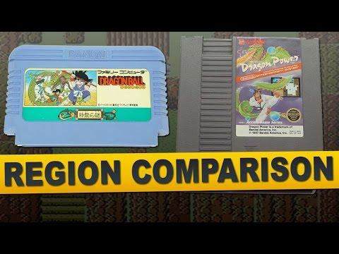 Dragon Power for NES (Region Comparison)