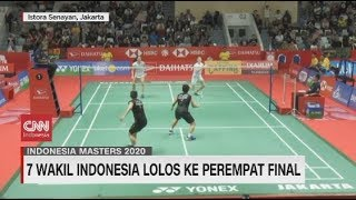 Tujuh Wakil Indonesia Lolos ke Perempat Final Indonesia Masters 2020