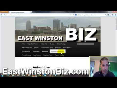 How to use East Winston Biz Website-Winston Salem Economic Development