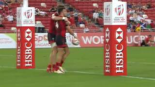 (HD) Singapore 7s | Scotland v Wales | Pool D | Full Match Highlights | Rugby Sevens