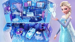 DIY Miniature Frozen Disney Dollhouse Bathroom, Bedroom Elsa Anna Part3 미니어쳐 돌하우스 겨울왕국