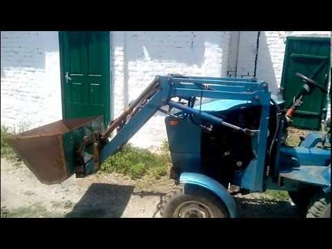 Как сделать кун на самодельный трактор
