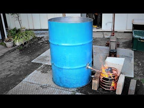 ドラム缶風呂サイド焚き