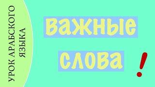 УРОК АРАБСКОГО ЯЗЫКА - Важные слова - 2