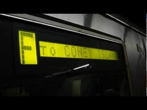IND 6th Avenue Line: Brooklyn bound R-46 F local train leaving 14th Street!