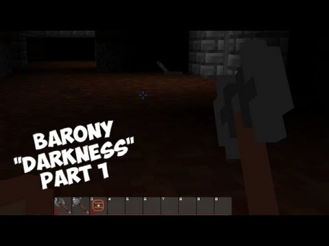 """Barony - Let's Play """"Darkness Challenge"""" Part 1 (No torches. No lights. Just death.) Gameplay 