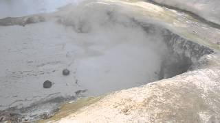 Mudpots, Bumpass Hell, Lassen Volcanic National Park, California