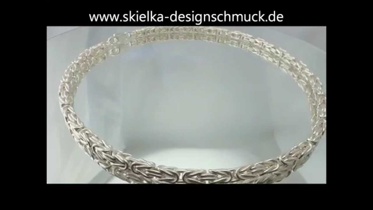 Königskette Sterlingsilber 925 Silberkette Im Königsketten Muster