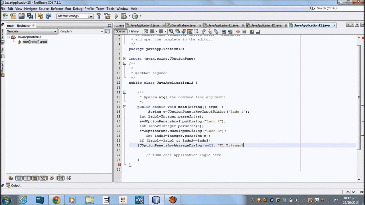 NetBeans triangulos  YouTube