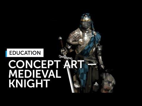 Speedpaint: Medieval Knight by Valentin Demchenko, Concept Artist at Plarium
