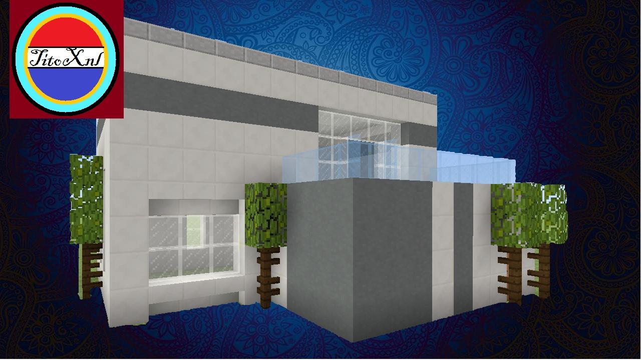 Minecraft een makkelijke modern huis maken youtube for Huis maken minecraft