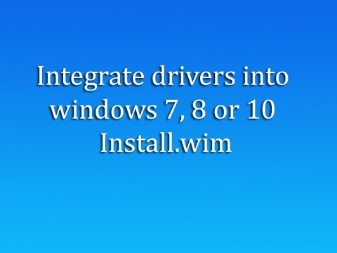 Add Drivers to Windows Installation ISO