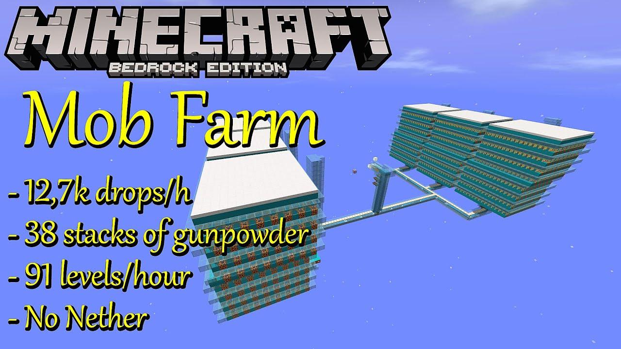 Mob Farm Bedrock Edition Xp Drops 1 16 Mcpe Windows 10 Xbox