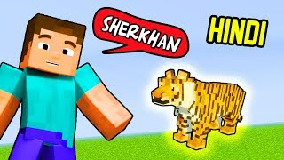 🐯 SHERKHAN TIGER PET - MINECRAFT ANIMALS #2 | Hitesh KS
