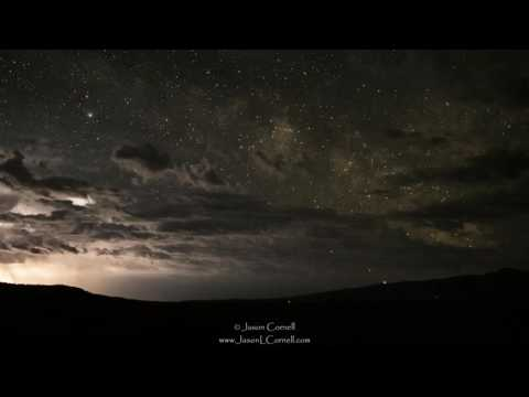 Thunderstorms and Milky Way in the Oregon High Desert