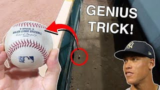 GENIUS-LEVEL baseball hack! Look how I got this Aaron Judge game home run ball at a White Sox game!