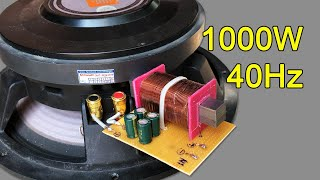 How to make easy Crossover Super Woofer 1000W circuit at home