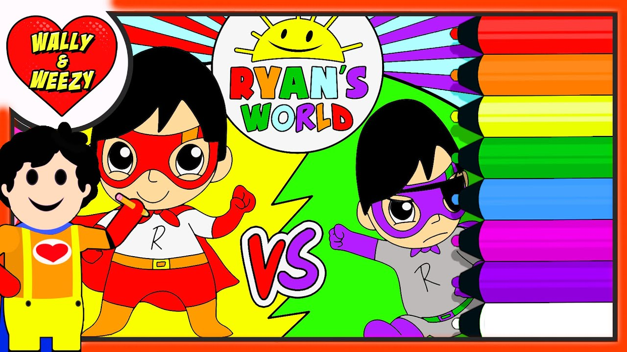 Coloring Red Titan VS Dark Titan Coloring Page by Ryan's World! - Wally and Weezy