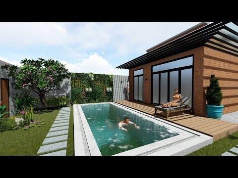 Thiết kế sân vườn biệt thự hồ bơi nghỉ dưỡng tại Lái Thiêu Bình Dương