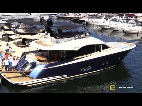 2015 Monte Carlo Yachts 65 Yacht - Walkaround - 2015 Montreal In Water Boat Show