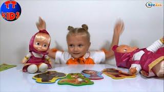 ✔ Маша и Медведь Собираем Пазлы с Машей и девочкой Ярославой Видео для детей Серия 13 ✔