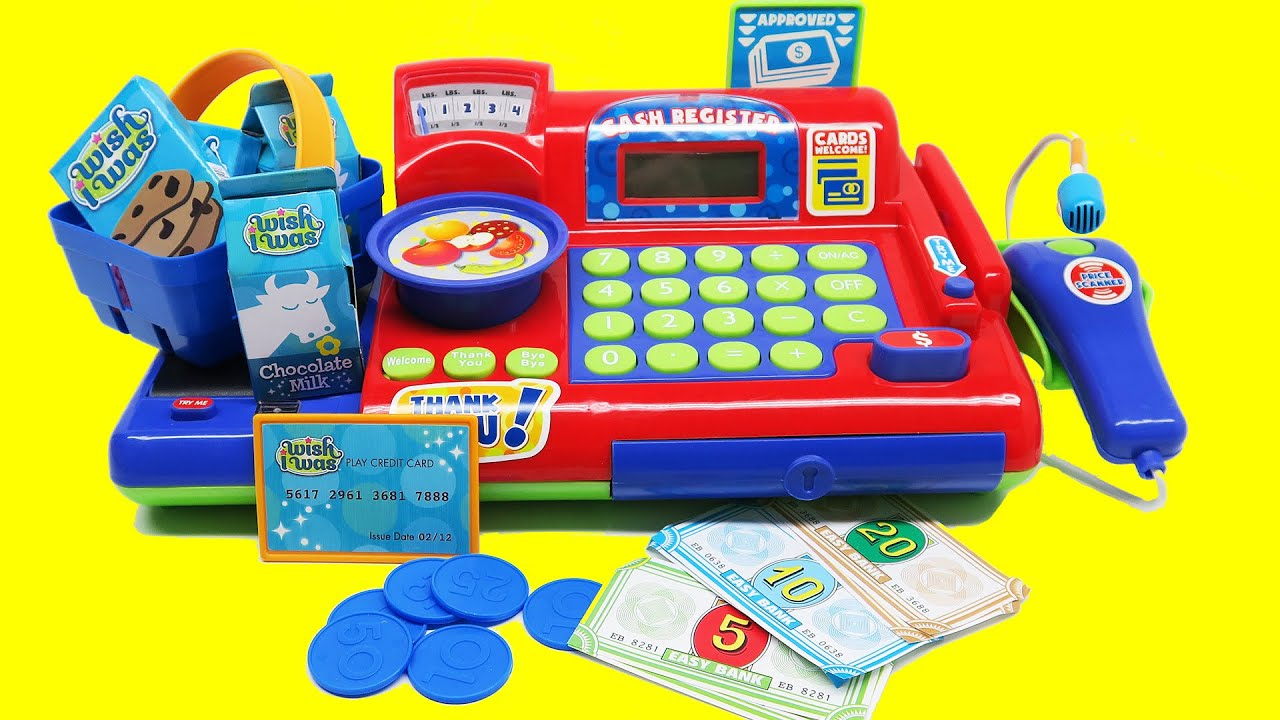 Toy Cash Register With Scanner : Toy cash register with scanner microphone calculator