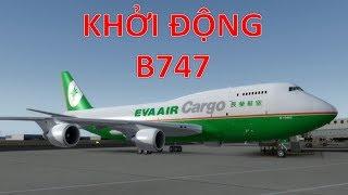 Khởi động máy bay Boeing 747