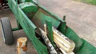 tractor pto driven log splitter video 1