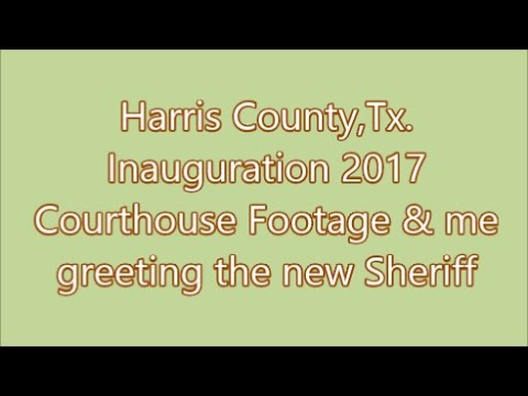 Harris County,Tx.-Inauguration 2017 Courthouse Footage