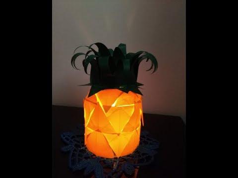 DIY Home Decor - How to Make handmade lighting Pineapple + Tutorial !
