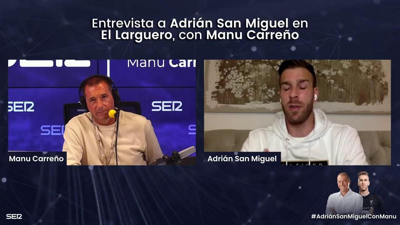 Entrevista a Adrián San Miguel en El Larguero [12/04/2021]