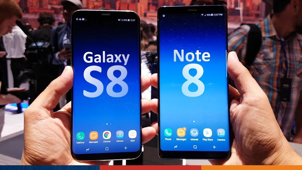 014b1e501da SAMSUNG NOTE 8 vs GALAXY S8+ - YouTube